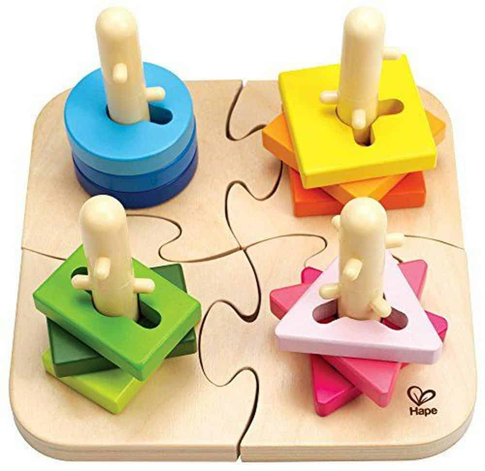 Hape Creative Wooden Peg Puzzle photo